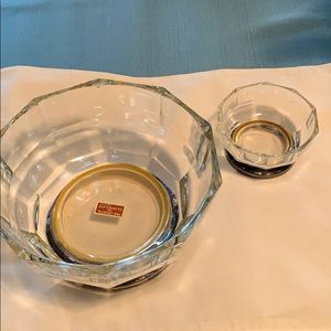 Crystal and Silverplate Serving Bowls